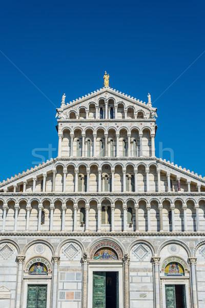 Katedrális mikulás Olaszország homlokzat tér Toszkána Stock fotó © Photooiasson
