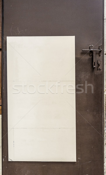 White panel in blank. Stock photo © Photooiasson