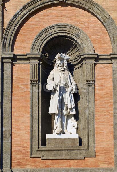 Statue of Carlo III in Palazzo Reale di Napoli. Campania, Italy. Stock photo © Photooiasson