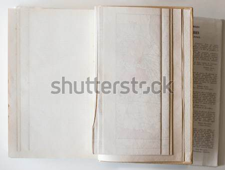 Blank book opened to the last page. Stock photo © Photooiasson