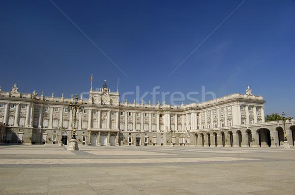 ロイヤル 宮殿 マドリード 本当の 空 建設 ストックフォト © Photooiasson