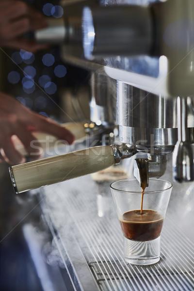 Barista espresso classique italien Photo stock © Photooiasson