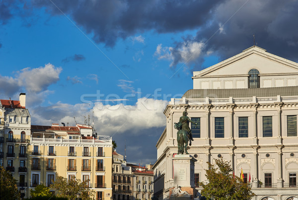 Royal Theatre and Monument to Felipe IV in Madrid. Stock photo © Photooiasson