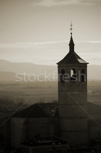 Silhouette of a bell tower in Avila, spain Stock photo © Photooiasson