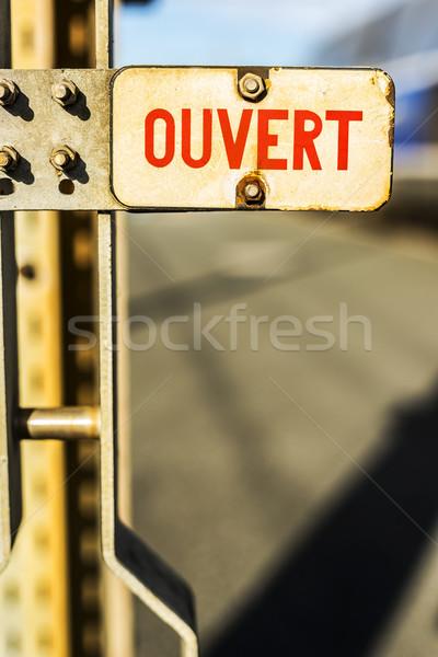 Metal rusty sign. Stock photo © Photooiasson