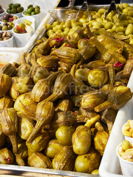 Berenjenas de Almagro eggplant in a stall of a market. Stock photo © Photooiasson