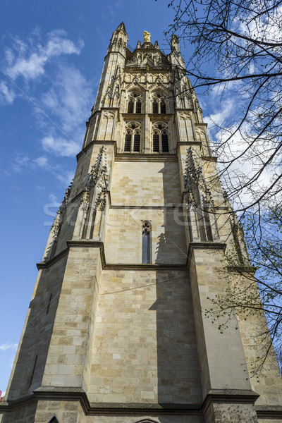 Saint Andre cathedral, Pey Berland Bell tower, Bordeaux, France Stock photo © Photooiasson