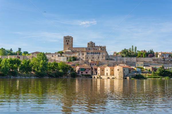 大聖堂 スペイン 水 表示 川 建物 ストックフォト © Photooiasson