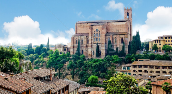 The Basilica of San Domenico. Siena, Italy Stock photo © Photooiasson