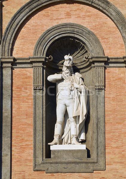 Statue Italie façade Naples architecture centre-ville Photo stock © Photooiasson