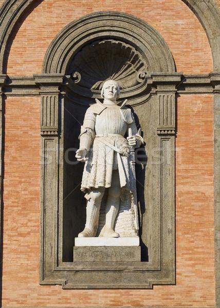 Foto stock: Nápoles · Itália · estátua · fachada · arquitetura · centro · da · cidade