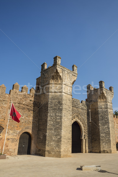 Main gate of Chellah necropolis. Rabat. Morocco. Stock photo © Photooiasson