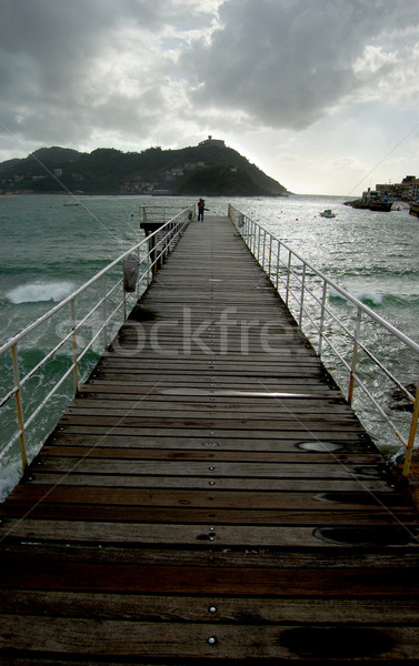 Footbridge of  Nautical Club in San Sebastian, Spain Stock photo © Photooiasson