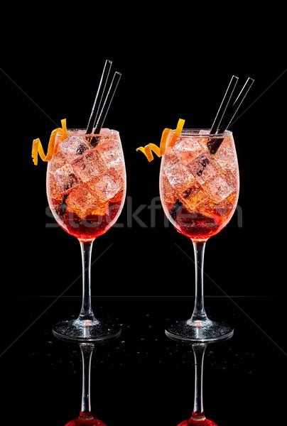 Kettő csészék tipikus koktél olasz koktélok Stock fotó © Photooiasson