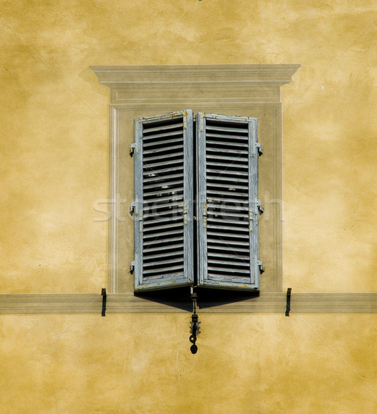 Typical window of Tuscan architecture. Siena, Italy Stock photo © Photooiasson