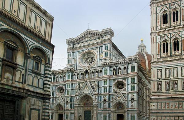 Florence katedrális opera mikulás Olaszország homlokzat Stock fotó © Photooiasson