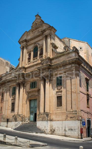 Sicilia Italia iglesia arquitectura nadie Foto stock © Photooiasson