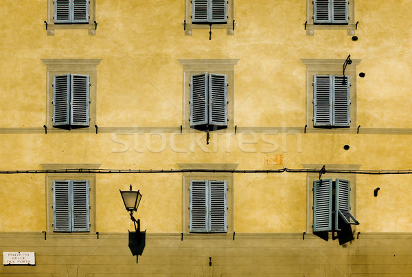Facade with windows of Tuscan architecture. Siena, Italy Stock photo © Photooiasson