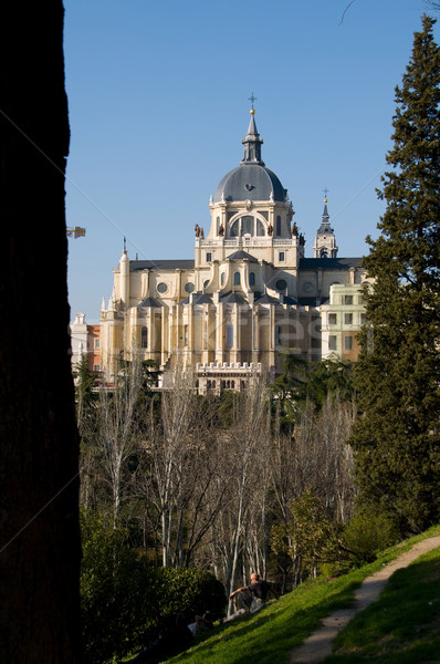 Cathedral of Almudena in Madrid. Spain Stock photo © Photooiasson