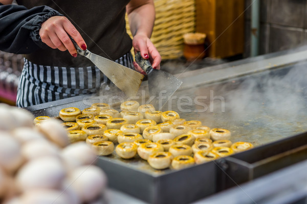 Főzés gombák konyha szakács étterem vasaló Stock fotó © Photooiasson