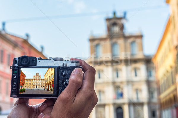 Palazzo Ducale in Piazza Roma of Modena. Italy. Stock photo © Photooiasson