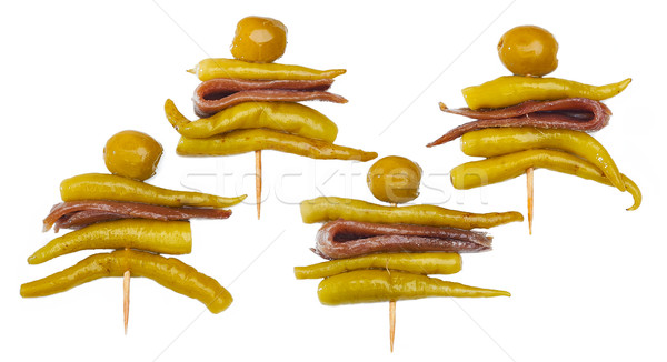 Typique espagnol quatre isolé olive vert Photo stock © Photooiasson