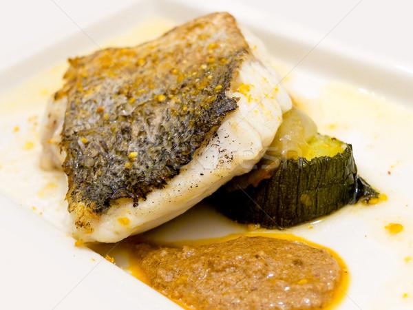 Fej paprikák mártás étel hal ebéd Stock fotó © Photooiasson