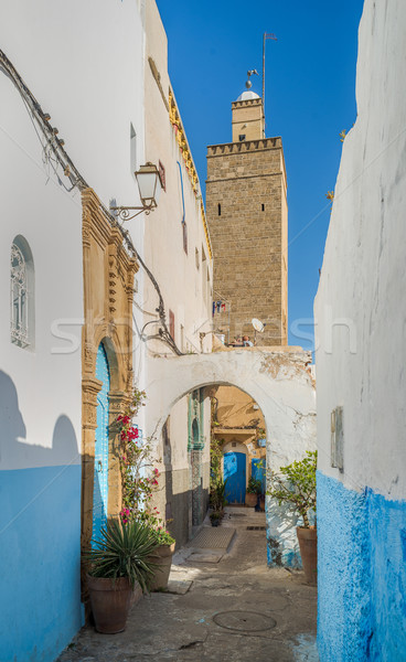 Street of Kasbah of the Udayas in Rabat, Morocco. Stock photo © Photooiasson