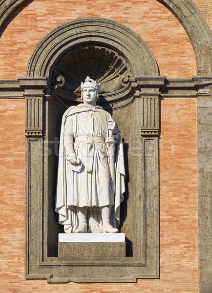 Statue of Carlo d'Angio in Palazzo Reale di Napoli, Italy. Stock photo © Photooiasson