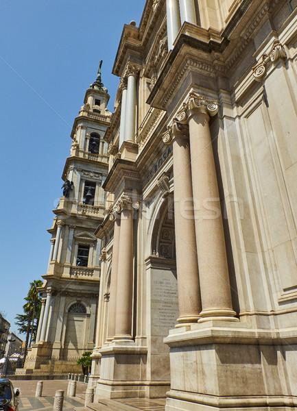 Principal facade of Santuario della Beata Vergine del Rosario. Pompei. Stock photo © Photooiasson