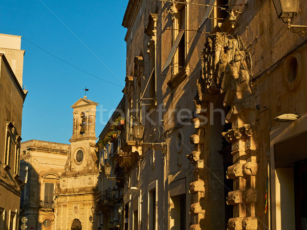 Torre dell'Orologio in Vittorio Emanuele II street of Galatina, Apulia. Stock photo © Photooiasson