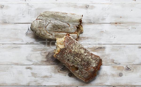 Typical homemade italian Ciabatta bread. Stock photo © Photooiasson