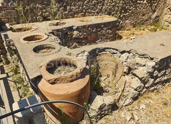 Stok fotoğraf: ören · eski · Roma · şehir · İtalya · detay