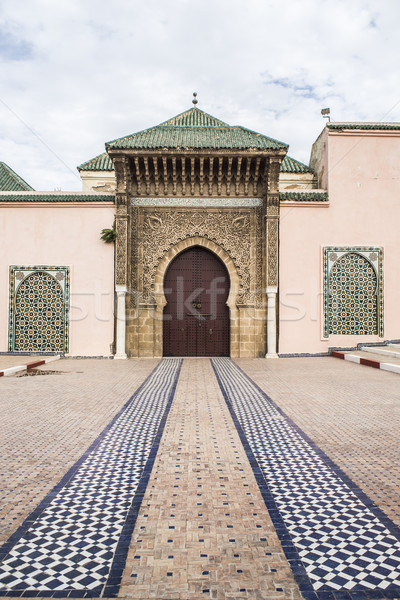 Moulay Ismail mausoleum in Meknes medina. Morocco. Stock photo © Photooiasson