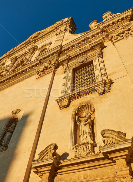 Chiesa Madre San Pietro e Paolo church at sunset. Galatina, Apulia, Italy. Stock photo © Photooiasson