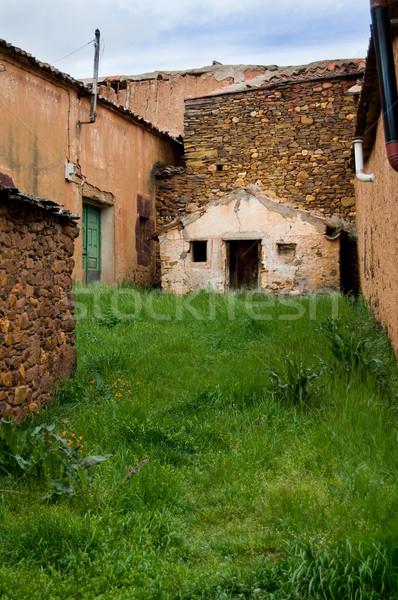 Agyag város Spanyolország textúra épület fal Stock fotó © Photooiasson