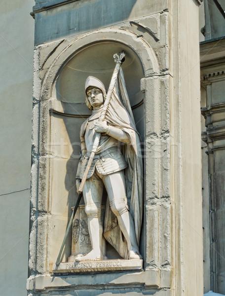 Estátua florence Itália ver rua espada Foto stock © Photooiasson
