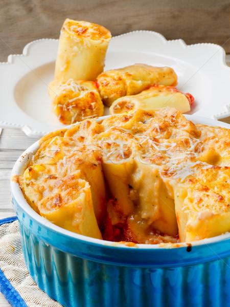 Paccheri gratin baked. Stock photo © Photooiasson
