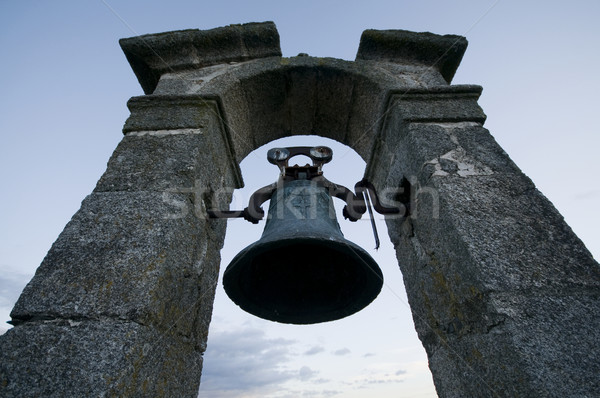 Bell on Bellfry over Cloudy Sky Stock photo © Photooiasson