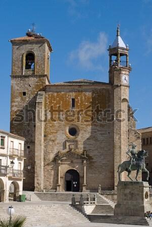 Cuadrados España estatua espanol explorador conquistador Foto stock © Photooiasson