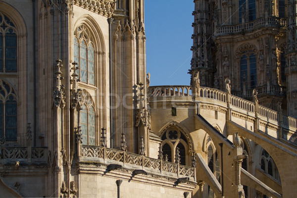 Details of Principal Facade of Burgos Cathedral. Spain Stock photo © Photooiasson