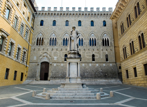 Monument to Sallustio Bandini in Piazza Salimbeni. Siena, Italy Stock photo © Photooiasson