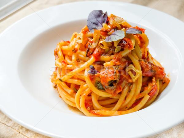 Bucatini Pomodoro (Tomato Sauce) Stock photo © Photooiasson
