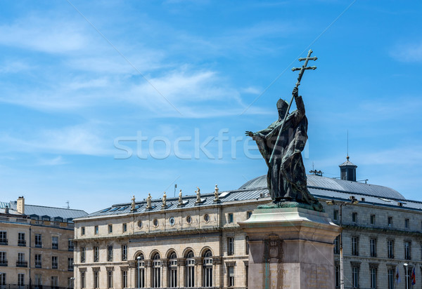 Statue of Charles Martial Lavigerie in Bayonne. France. Stock photo © Photooiasson