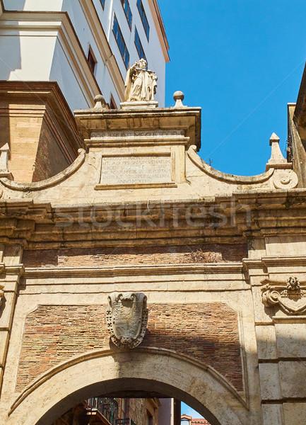 La bramy Włochy architektury centrum arch. Zdjęcia stock © Photooiasson