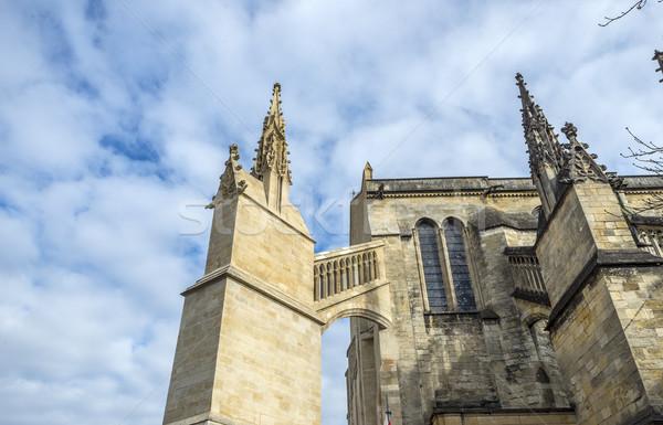 Katedrális Bordeau Franciaország szent gótikus templom Stock fotó © Photooiasson