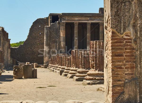 Ruines oude Romeinse stad Italië Stockfoto © Photooiasson