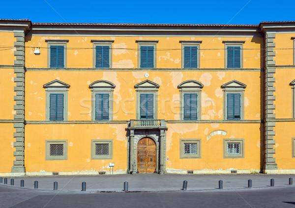 Palácio toscana Itália fachada praça medieval Foto stock © Photooiasson
