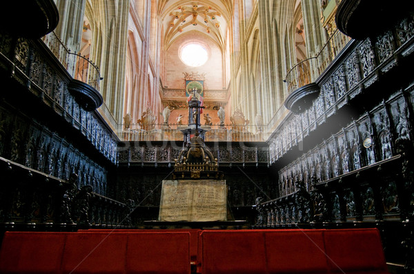 Coro organo Spagna legno chiesa Foto d'archivio © Photooiasson