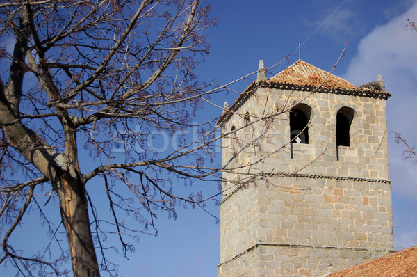 Tower of the Medieval Church Stock photo © Photooiasson